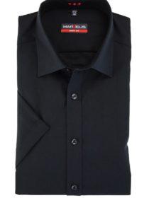 Marvelis Hemd schwarz Popeline